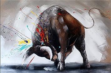 d70191bf0a6 Abstrait Taureau – Taureau Image II – Taureau Peintures – Martin Petit –  Bulle – Acrylique