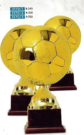 Trofeo Balón Fútbol Dorado - H cm 35 - Manivela - Made in Italy ...