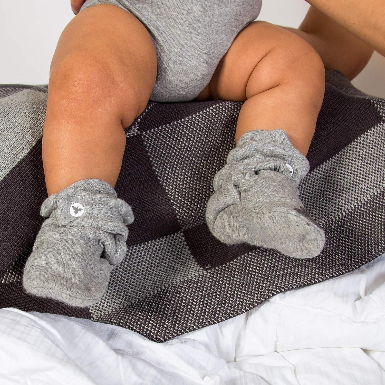 Burt's Bees Baby Unisex Baby Booties, Boys Girls Quilted Booties, 100% Organic Cotton