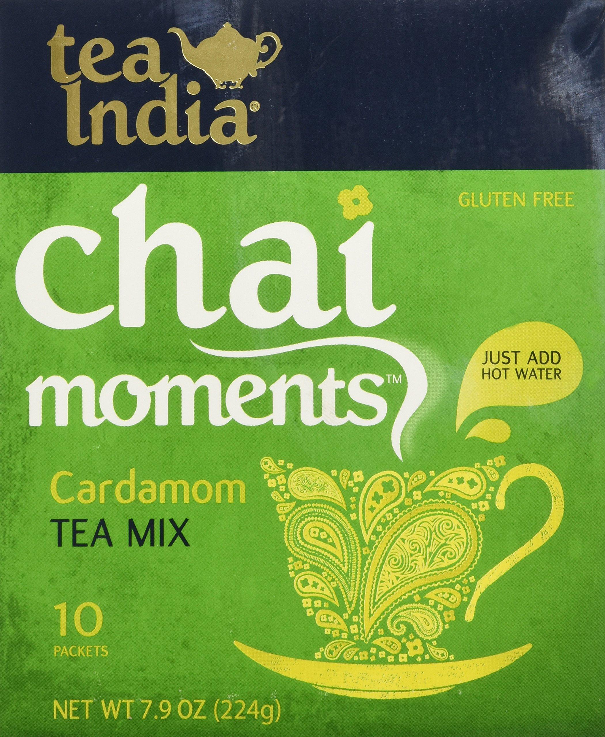 Tea India Cardamom Tea Mix - Chai Moments Cardamom Tea 10 Instant Tea Packets