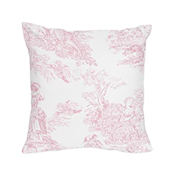 Amazon Com Sweet Jojo Designs Pink And White French Toile Checkered Decorative Accent Throw Pillow Baby