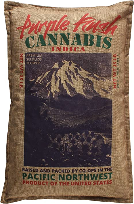 steelplant Acapulco Gold Cannabis Sack Queen Pillowcase Cover Marijuana from Mexico Print