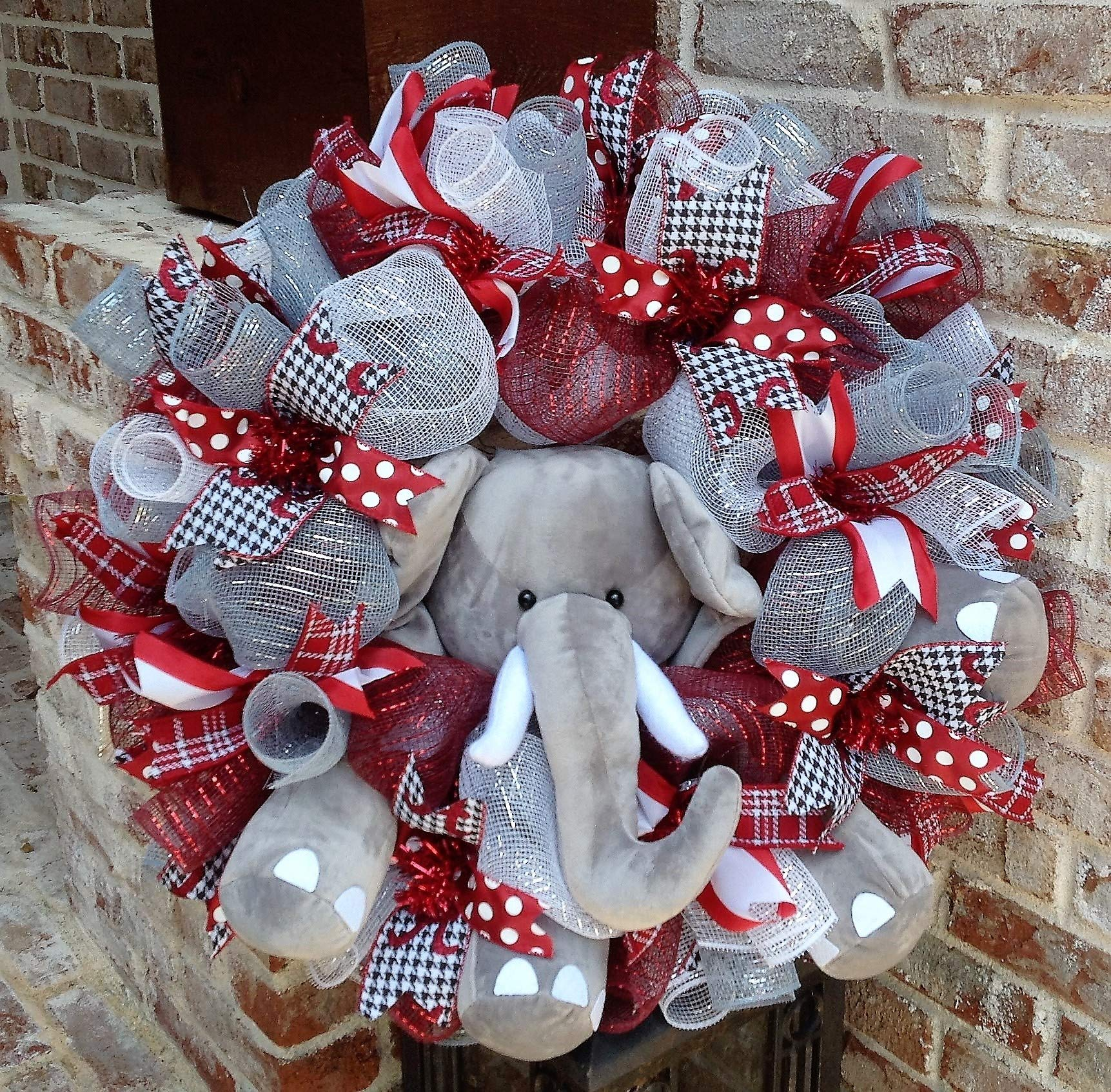 Flora Decor Alabama Crimson Tide Collegiate Wreath w Elephant -26''
