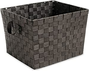 Whitmor Woven Strap Storage Tote Basket - Espresso