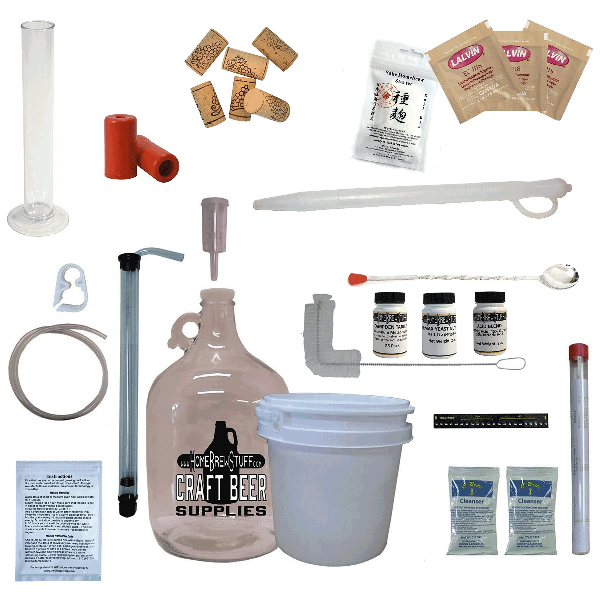 HomeBrewStuff Table Top Nano-Sake Equipment Kit With Koji-Kin Culture