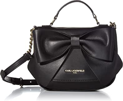 Karl Lagerfeld Paris Kris FARA PU Bow Flap Crossbody