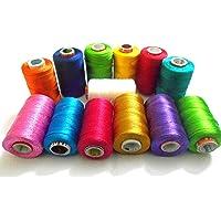 GOELX Silk Shiny Soft Thread Spools (Assorted)