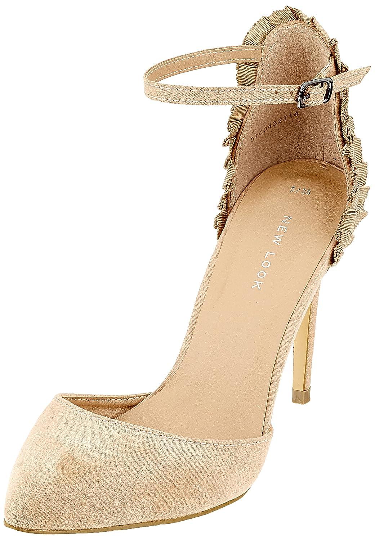 New Look Scrunch, Zapatos de Tacón con Punta Abierta para Mujer