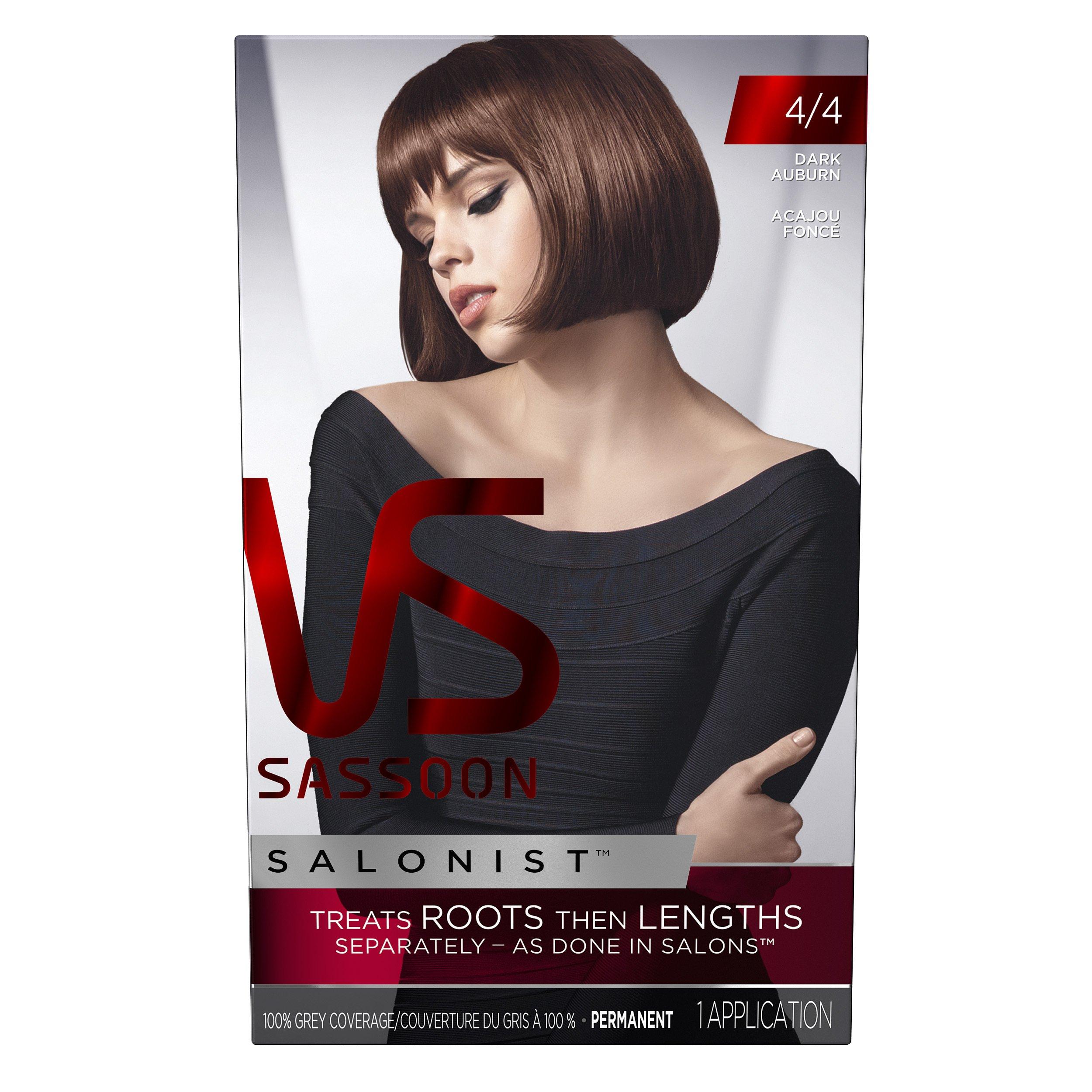 Vidal Sassoon Salonist Hair Colour Permanent Color Kit, 4/4 Dark Auburn by Vidal Sassoon