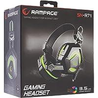 Snopy Rampage SN-R71 Ledli Oyuncu Mikrofonlu Kulaklık, Siyah/Mavi