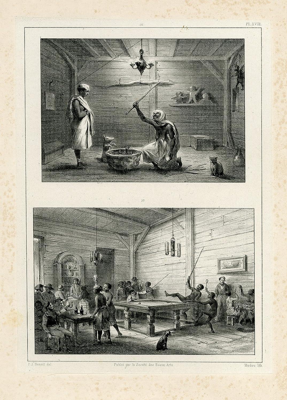 Impresión antigua - suriname-slavery-magician-water mama-billar ...