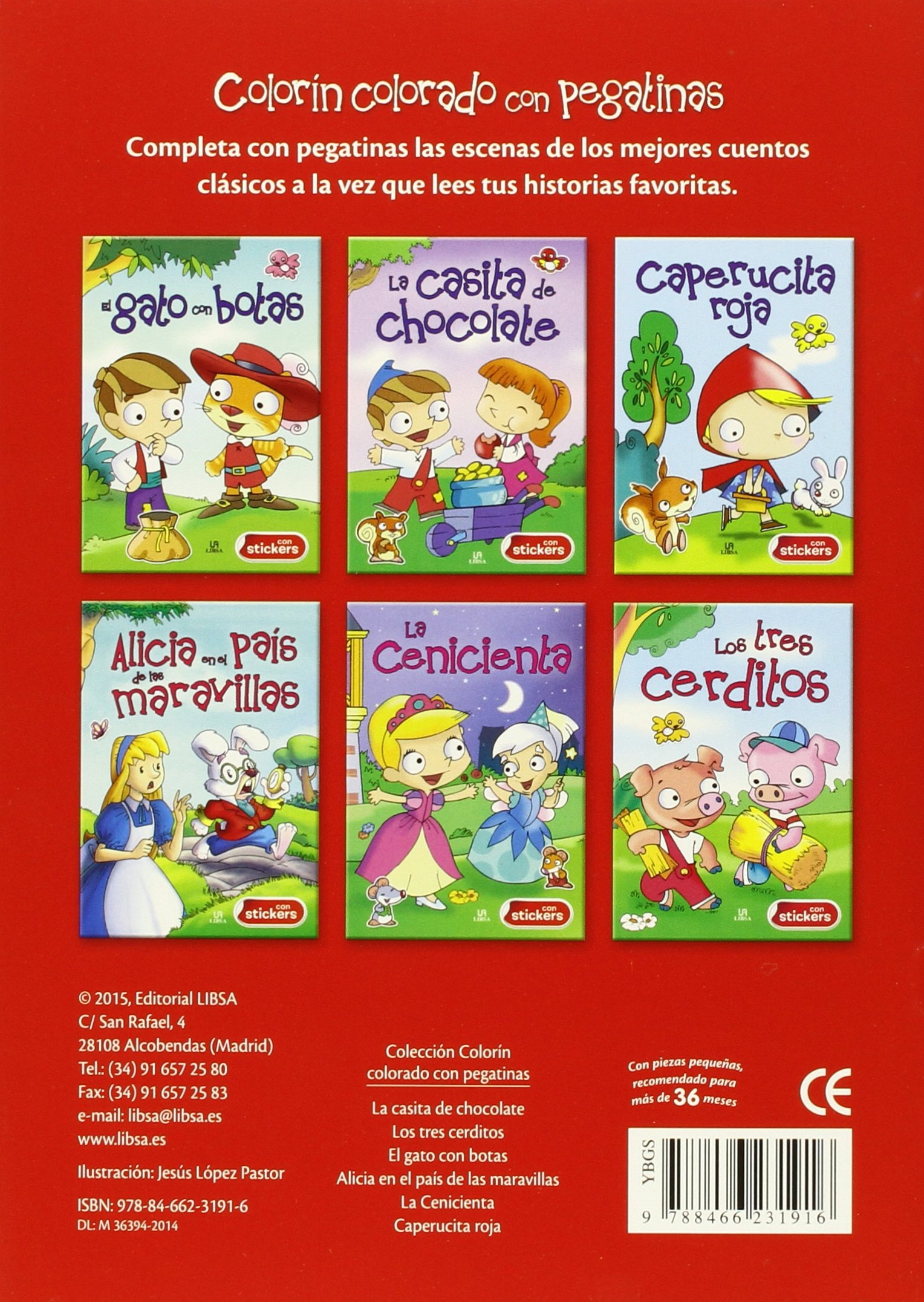 CAPERUCITA ROJA- CON STICKERS: Equipo Editorial: 9788466231916: Amazon.com: Books
