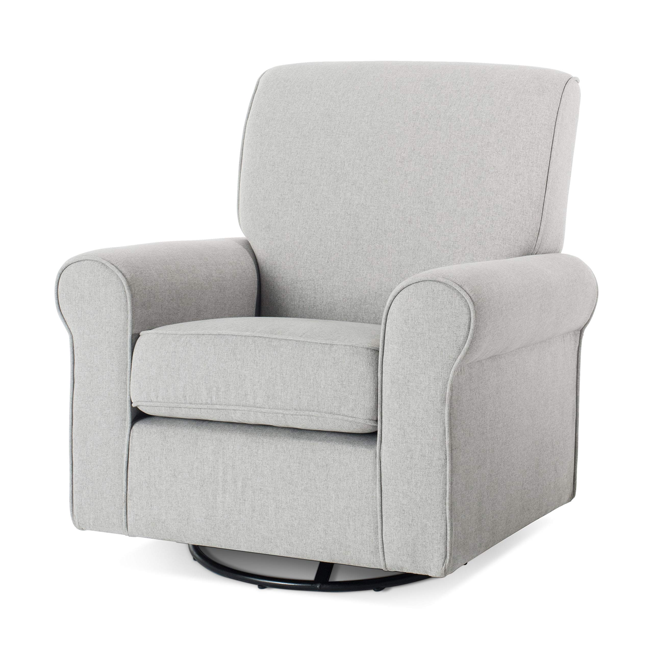 Forever Eclectic by Child Craft Serene Upholstered Swivel Glider Rocker, Flecked Gray (Flecked Gray) by Childcraft