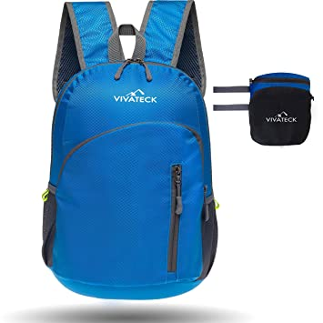 86f123091cad Vivateck foldable lightweight waterproof travel and hiking backpack for men  and women 20L - useful small & portable for hiking, school, gym and ...
