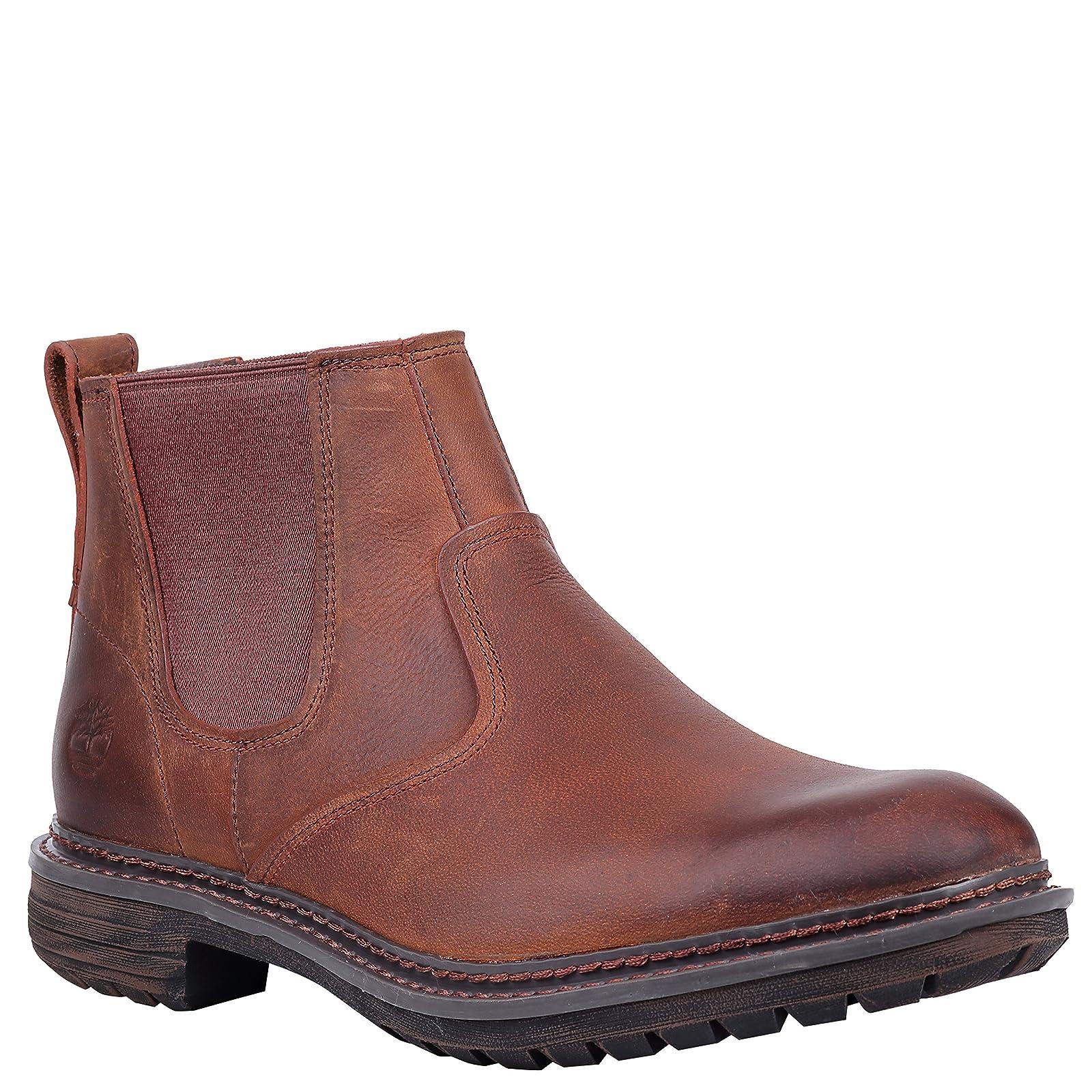 Timberland Men's Logan Bay Chelsea Boot A1V4Z Medium Brown Full Grain - 2