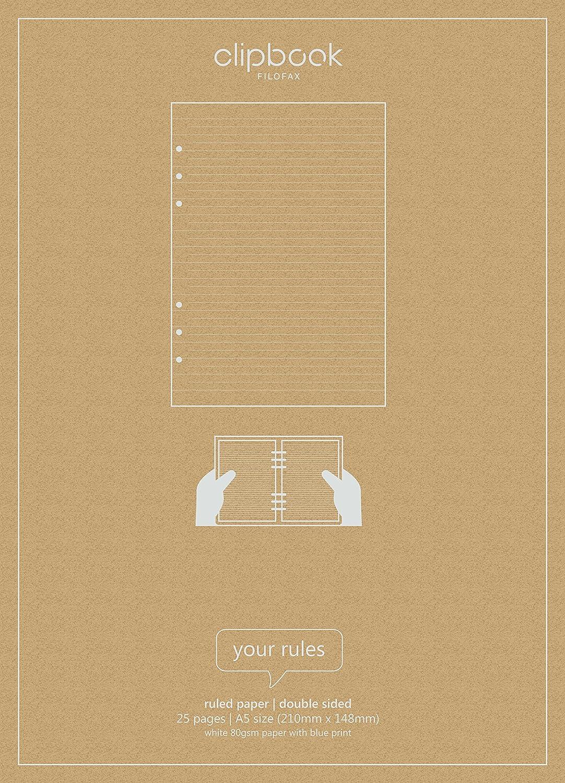 Clipbook Recambio de hojas con líneas para libretas con ...