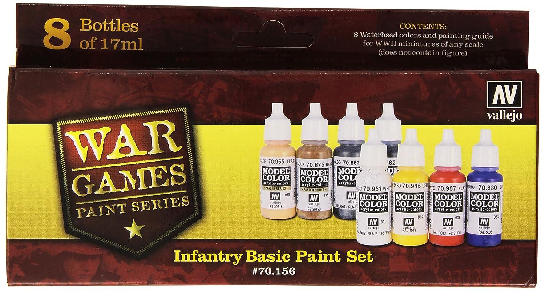 Vallejo Infantry Basic Wwii Paint Set, 17ml