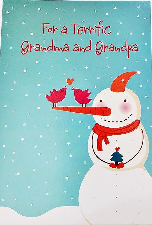 Amazon for a terrific grandma and grandpa merry christmas for a terrific grandma and grandpa merry christmas greeting card to grandparents quot m4hsunfo
