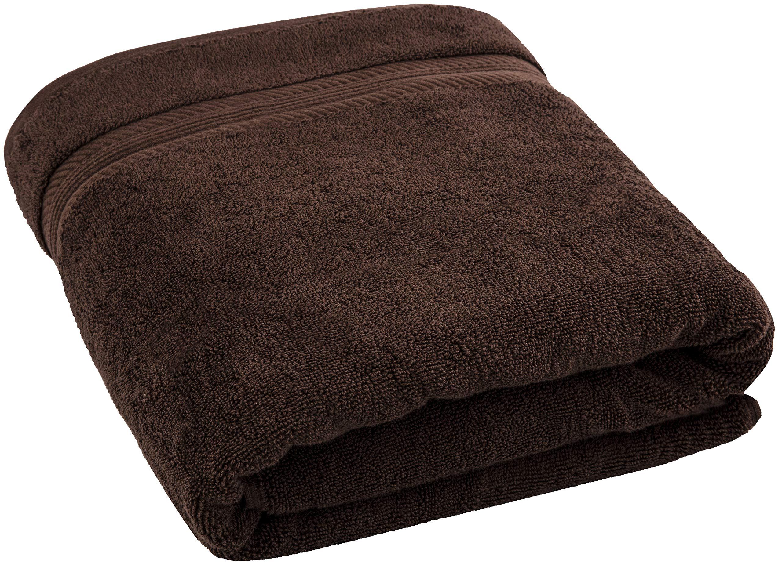 American Bath Towels, 35x70 Oversized 650 GSM Premium Hotel & Spa Quality Organic Turkish Cotton Bath Sheet for Softness & Absorbency, Dark Brown by AmericanBathTowels