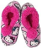Hello Kitty Girls 7-16 Slipper Sock, Pink, Small