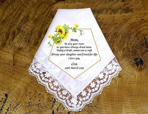 Personalized Gift 001MG2 Mother of the Groom Handkerchief Wedding Handkerchief