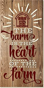 The Barn is The Heart of The Home Rustic Wood Wall Sign 9x18