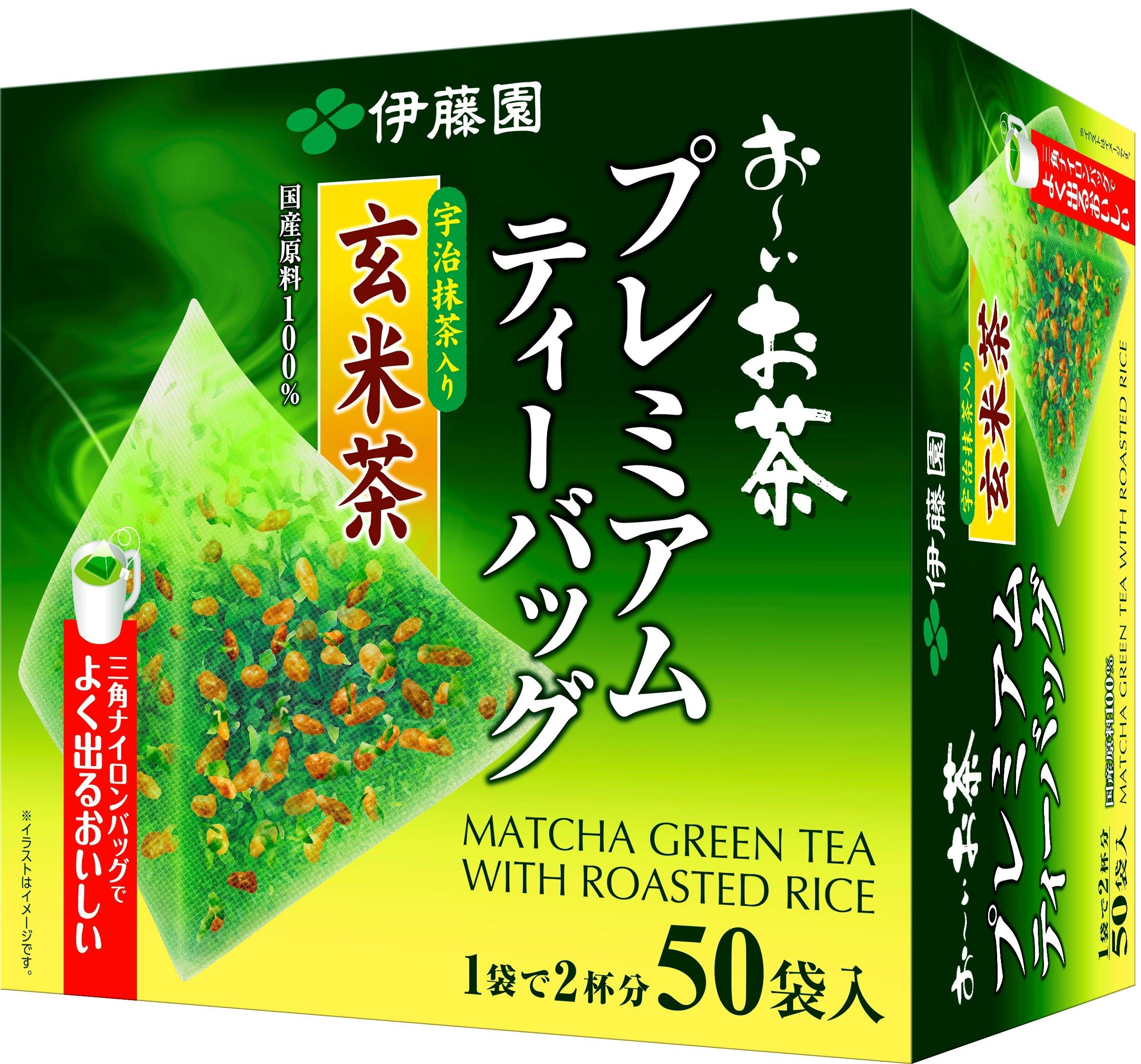 Itoen Genmaicha (Brown Rice Tea) Matcha Blend Premium Bag 2.3g Pack of 50