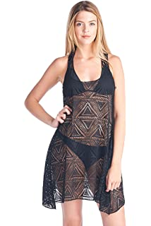 b2fd1834cd3 SHORE TRENDZ Women's T-Back Cover up Beach Dress Swimwear Made in The USA