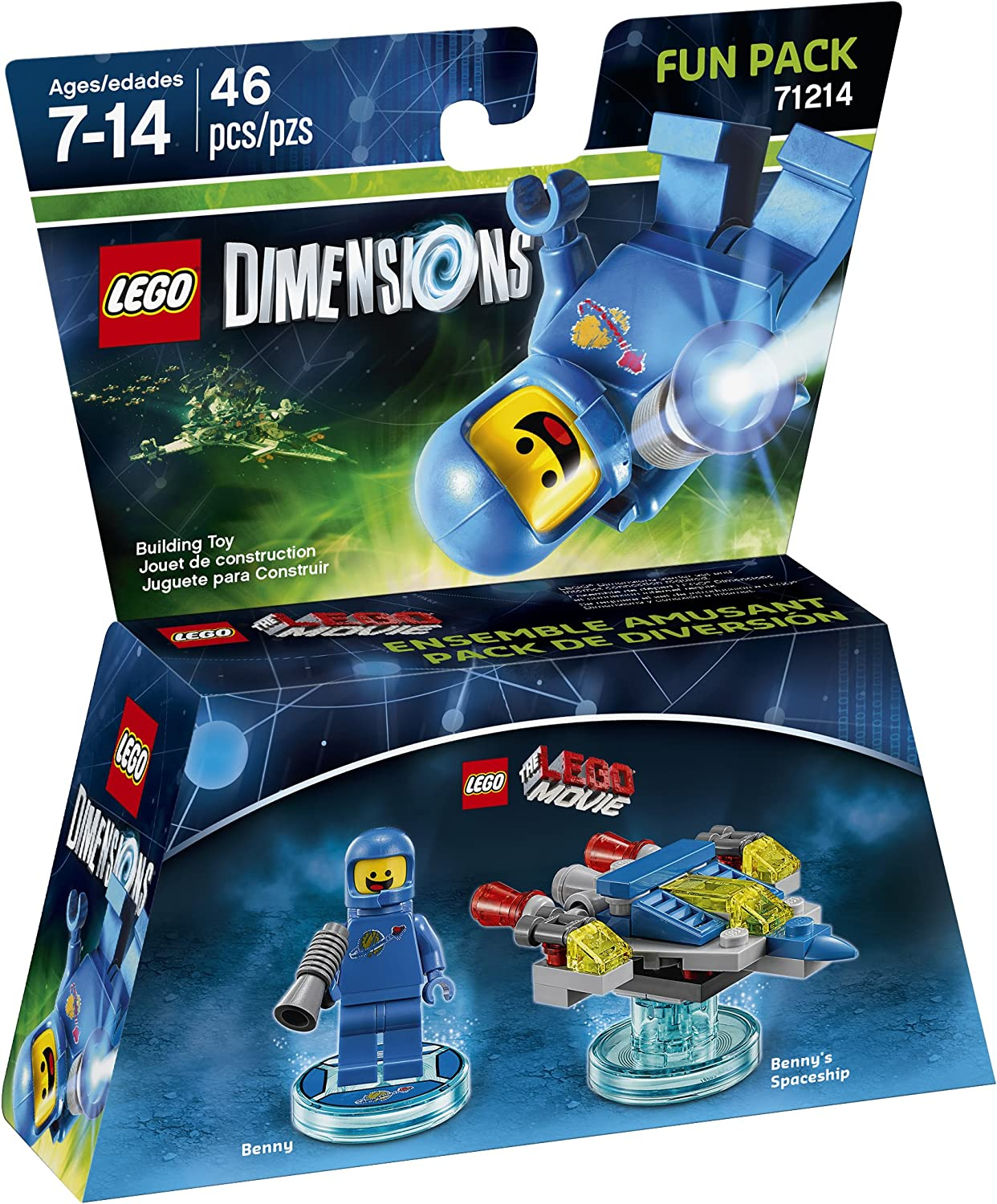 LEGO Dimensions Fun Pack 71214 THE LEGO MOVIE Benny /& Benny/'s Spaceship NEW