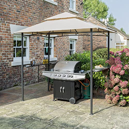 Outsunny 8 Ft New Double Tier Bbq Gazebo Grill Canopy