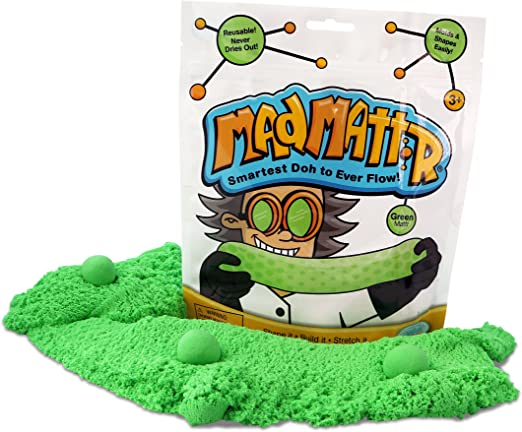 MAD MATTR Super-Soft Modelling Dough Compound That Never Dries out by Relevant Play (Green, 10oz): Amazon.es: Juguetes y juegos