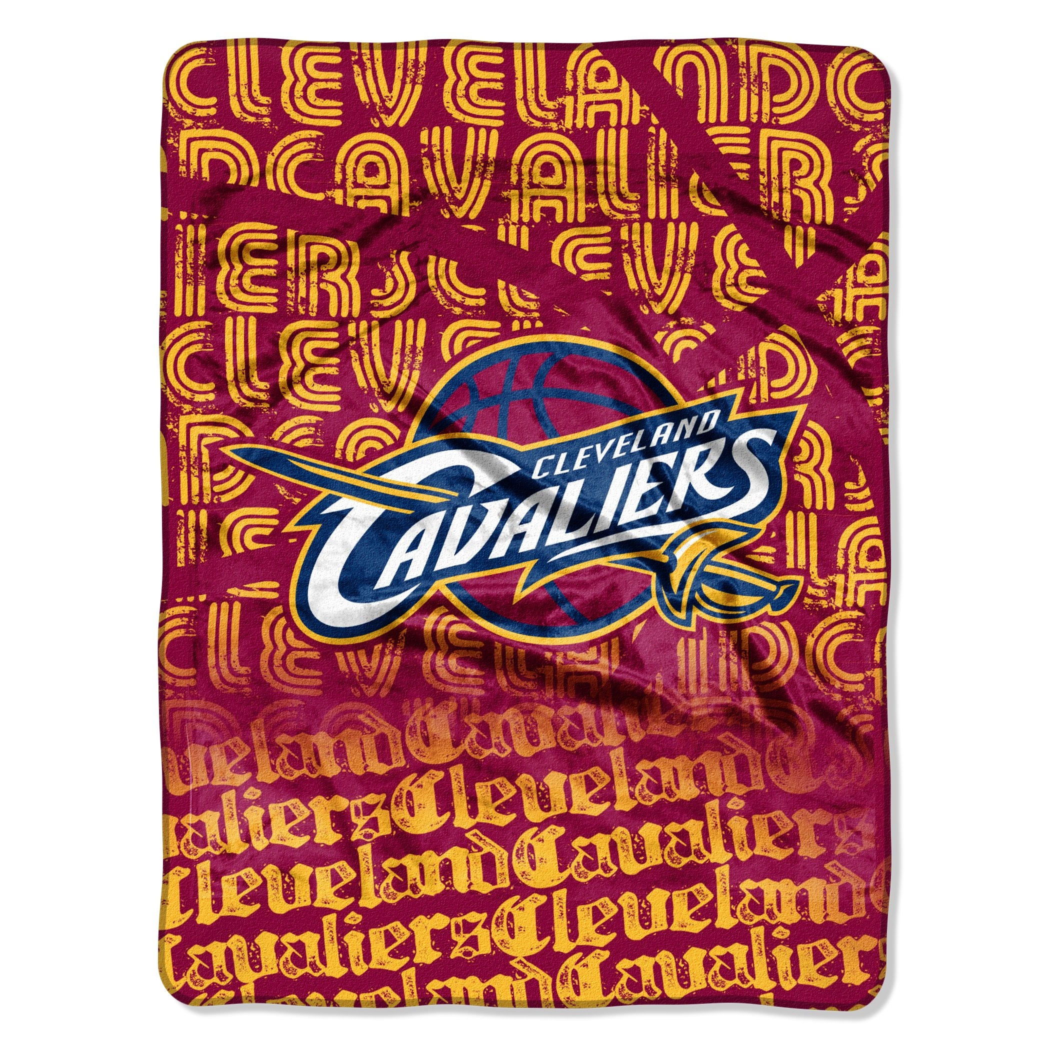 The Northwest Company Officially Licensed NBA Cleveland Cavaliers Redux Micro Raschel Throw Blanket, 46'' x 60''