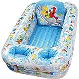 Sesame St Inflatable Bathtub, Blue/White