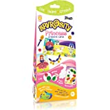 Quill On Spyrosity Princess Theme Pack - Contains 8 Creative Self-Adhesive Cards, Sticky-Back Quilling Strip & Mini Sizing Board (Multicolour)