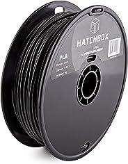 HATCHBOX PLA 3D Printer Filament, Dimensional Accuracy +/- 0.03 mm, 1 kg Spool, 3.00 mm, Black
