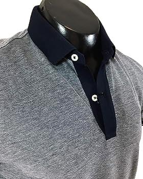 MASSIMO DUTTI 0716/202/401 - Polo para Hombre con Ribetes de Contraste Azul Azul XL: Amazon.es: Ropa y accesorios