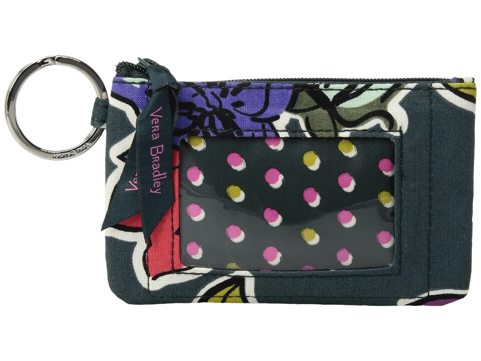 Vera Bradley Women's Zip ID Case Falling Flowers by Vera Bradley