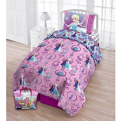 tn 4 piece girls purple frozen toddler bedding princess toddler comforter set disney princess elsa - Toddler Bedding For Girls