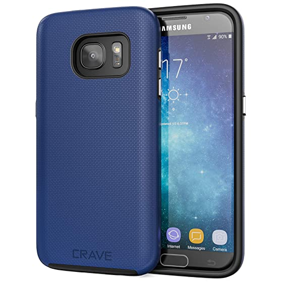 timeless design 8a1bf 1b8d1 S7 Case, Crave Dual Guard Protection Series Case for Samsung Galaxy S7 -  Navy Blue