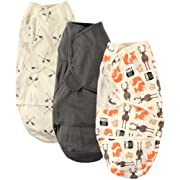 Hudson Baby Swaddle Wrap, Woodland Creatures, 0-3 Months