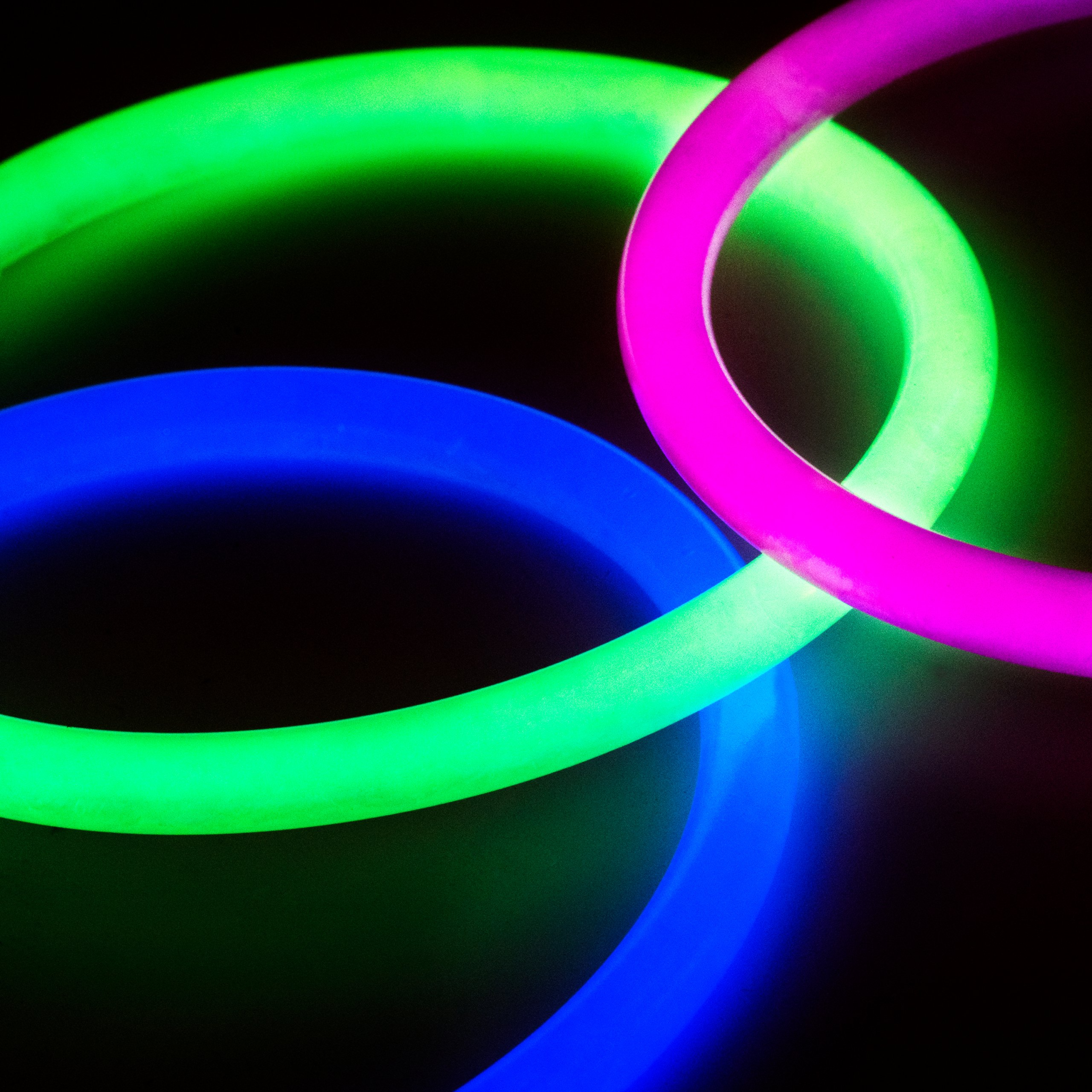 Glow Sticks Bulk Party Favors 400pk - 8'' Glow in the Dark Party Supplies, Light Sticks Neon Party Glow Necklaces and Bracelets for Kids or Adults by PartySticks (Image #6)