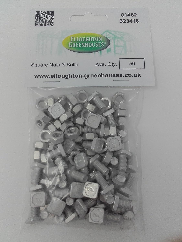 Elite Greenhouses Muttern und Schrauben Aluminium 50 St/ück