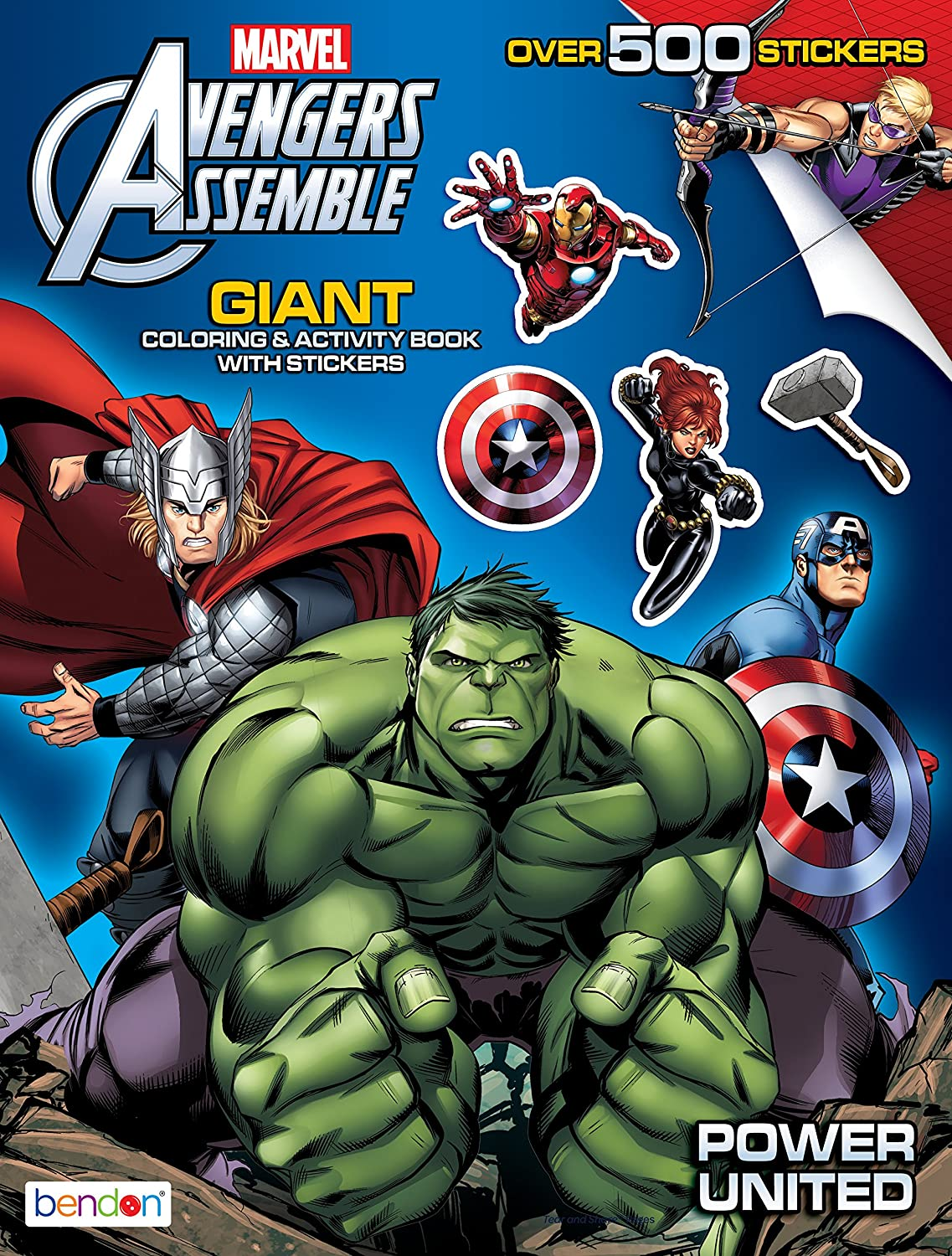Amazon.com: Bendon Avengers Assemble Giant Sticker and Activity Book ...