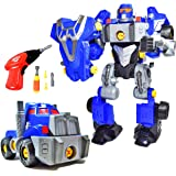 CoolToys Custom 3-in-1 Take-A-Part Robot Toy Playset   Includes Electric Play Drill, Screwdriver and 42 Modification Pieces