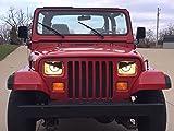 1987-1995 Jeep YJ/XJ Angry Eyes Snake Eyes