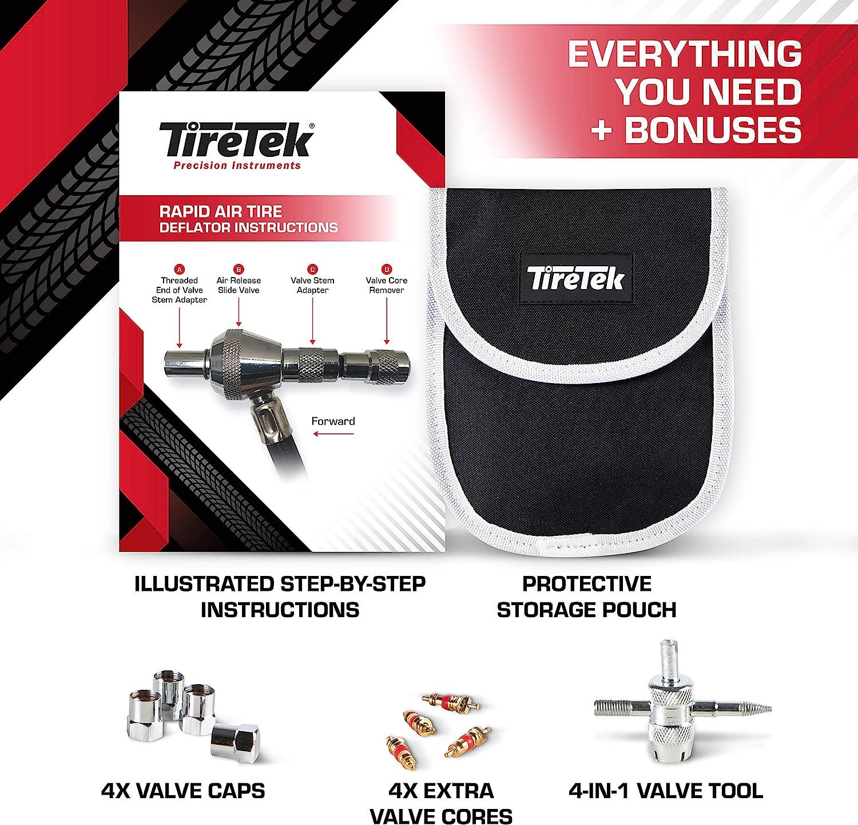 TireTek Rapid Air Tire Deflator with Gauge 75 PSI Air Down Tire Deflators Offroad Accessories 4x4