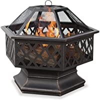 Endless UniFlame 6-Sided Oil Rubbed Bronze Outdoor Fire Bowl with Lattice Design