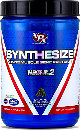 VPX Synthesize Ignite Muscle Gene Proteins Grape Bubblegum 1.2 lbs