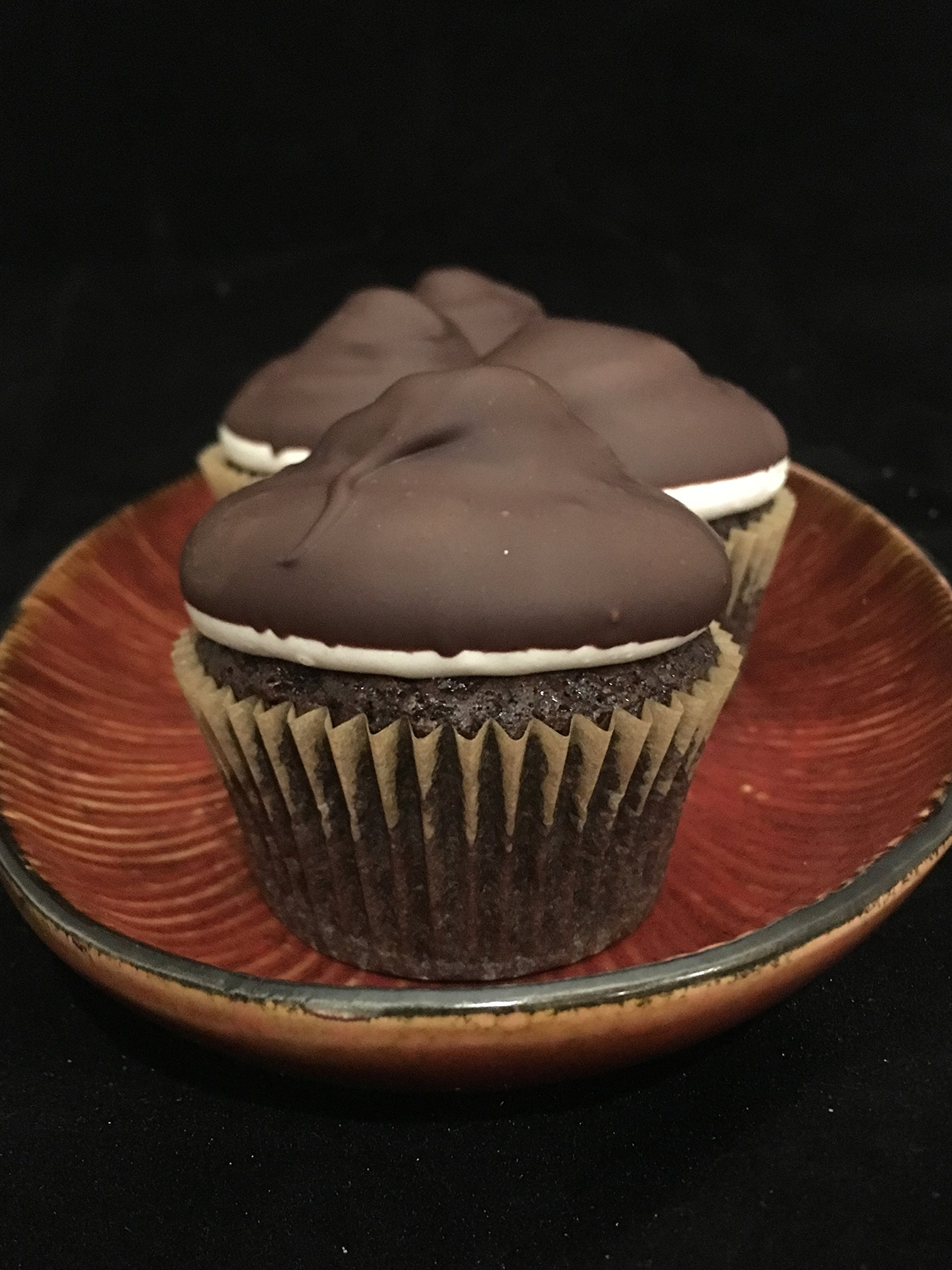 Vegan Chocolate Birthday Cupcake Six-Pack: Ships Free with a Birthday Candle