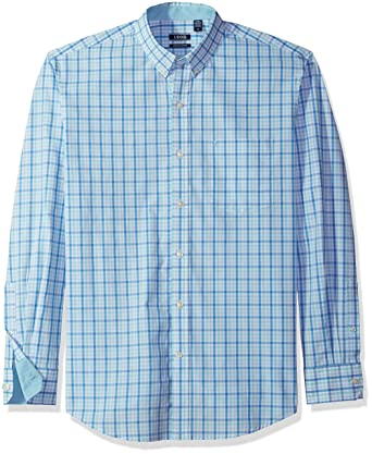 e2905f31 IZOD Men's Premium Performance Natural Stretch Tattersal Long Sleeve Shirt  (Regular and Slim ...